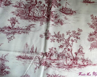 Beautiful toile de Jouy fabric cut