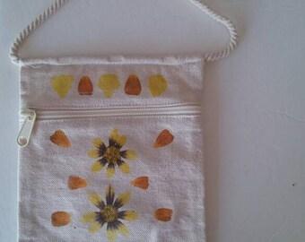Floral Eco Printed Purse