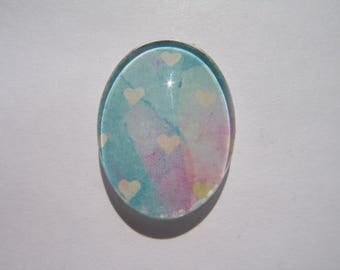 Cabochon 18 X 25 mm oval with heart image