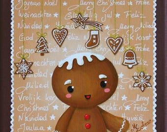"GINGERBREAD man - Acrylic painting on canvas: ""Gingerbread"" (gingerbread)"