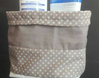 Storage pouch, mixed, ideal for the changing table