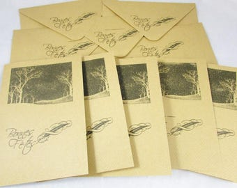 Set of 5 greeting cards with envelopes - REF CC011