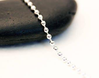5 m chain mesh ball silver 1.5 mm