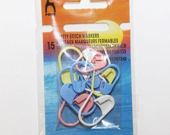 Rings, lockable markers for knitting - set of 15 - Pony - 2476