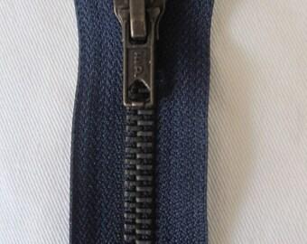 Closure zipper 12 cm Blue special of Jean