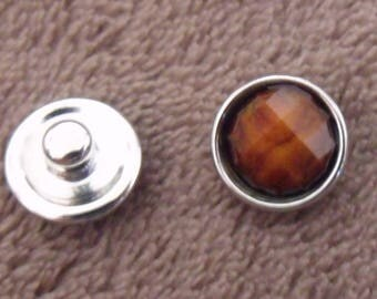 snap 12mm orange faceted