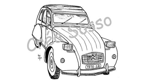Articles similaires à porte-clès dessin voiture ancienne ...