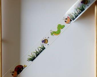 "Masking tape - pattern ""Little BEASTIES"" - 1.5 cm x 10 m"