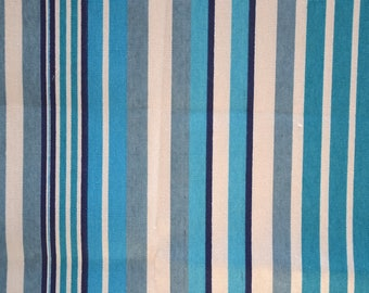 "Blue and white ""Stripes"" pattern thick cotton fabric"
