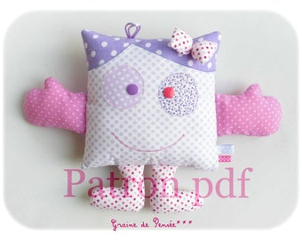 pdf tutorial to make a cuddly p' little monster pink