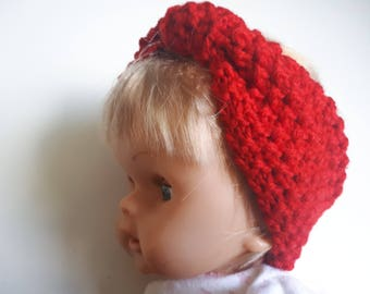 This headband in red wool 0.36 months