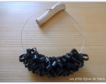 necklace made with recycled tractor inner