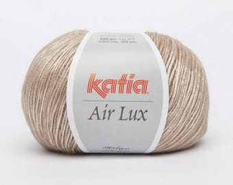 Ball of yarn Katia Air lux camel colors 71