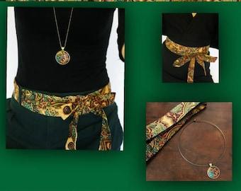 Batik and necklace belt