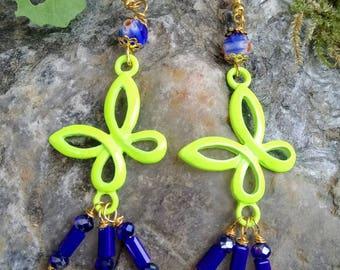 Butterfly Yellow Butterfly earrings