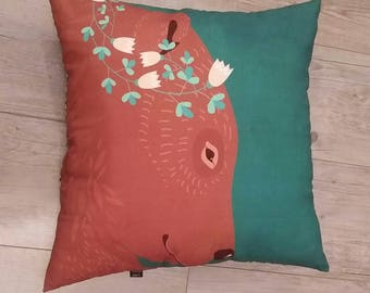 Child cushion - model bear and fairy - House decoration child - pillow