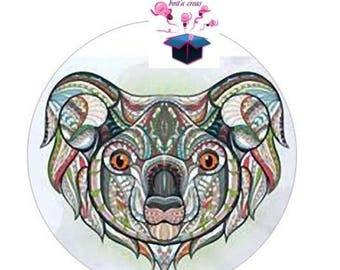 1 cabochon clear size 10 mm animal theme