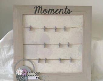 """frame photo memory 38 x 38 """"Moments"""""""