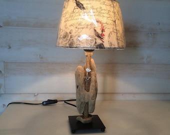 Romantic lamp linen & Driftwood