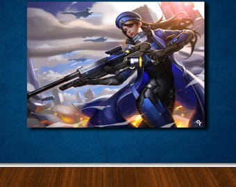 OVERWATCH poster ANA gaming canvas wall art, wall decor, home decor, print A1 A2 A3 A4 sizes, big framed poster, gift for him, birthday gift