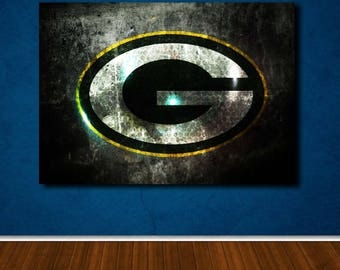 Green Bay Packers Wall Art packers art | etsy