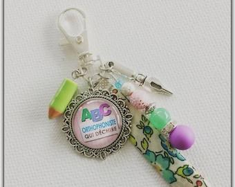 speech therapist gift, speech therapist, orphophoniste gift craft bag charm Keyring