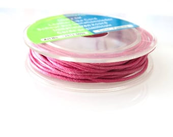 X 1 meter of cotton yarn pink 1 mm