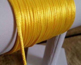 "1 ""3mm yellow rat tail cord m"