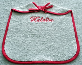 BIB CHILD CORD WITH NAME EMBROIDERED
