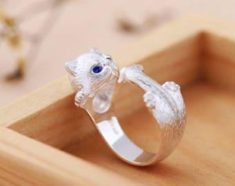 New lovely cute cat ring