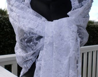 Shawl woman lace pleasant white wedding