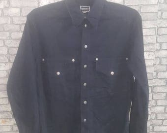 Rare black versace shirt/versace jeans signature