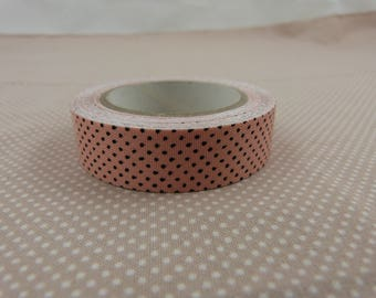Masking tape roll pink dots