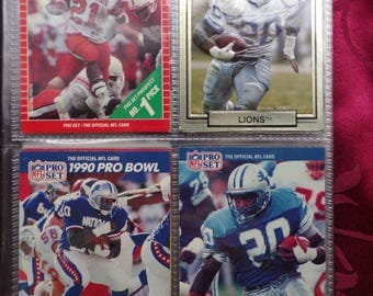 Football Barry Sanders 40 Different card Set in Sports collector album 1989 - 1995