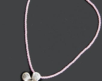 1 cord of silk - rose - 45 x 0,3 cm