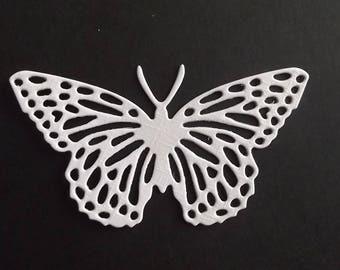 "Set of 10 white cuts ""Butterfly"" for your scrapbooking creations."