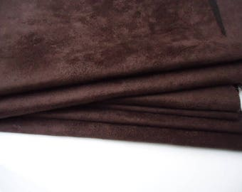 "Coupon - 50cm x 45cm - suede Brown ""Skin"" quality-"