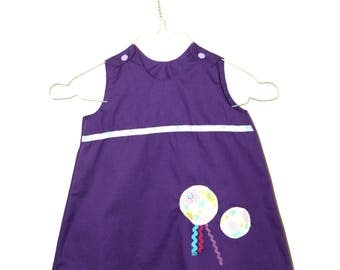 Dress 12 months - 18 months: pinafore or customize trapeze form