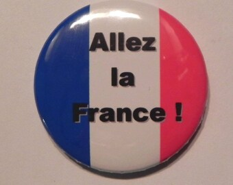 "Button football fan ""go the France!"""