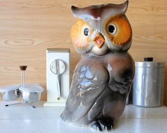 Large Vintage Ceramic Owl