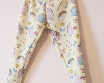 Unicorn girls leggings