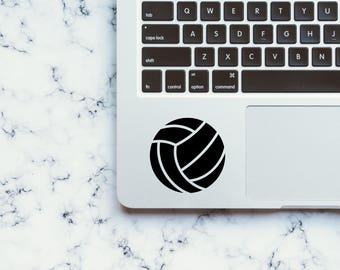 Volleyball Decal Vinyl, Volleyball Laptop Sticker, Volleyball Car Decal, Volleyball Bumper Sticker, Sports Decals, Summer Decal, Volleyball