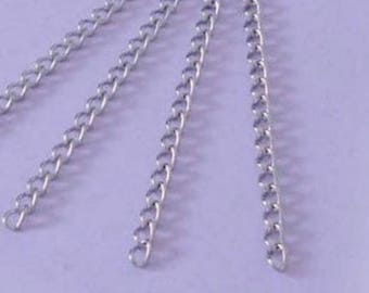 4 chains Extension 6 CM / 5.5 X 3.5 mm - stainless steel mesh