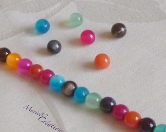 60 6 mm - Multi color Agate beads