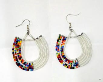 Ethnic Earrings, Ethnic Jewelry, Tribal Earrings, Tribal Jewelry, African Earrings, African Jewelry, Masai Earrings, Masai Jewelry, Earrings