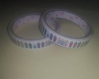 Masking tape school themed Ribbon