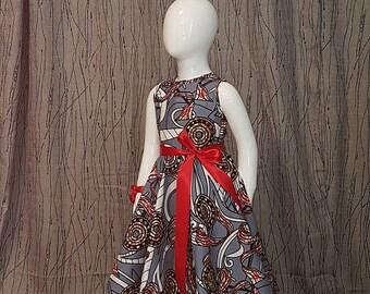 Long dress made of Wax. Very trendy. HAND MADE