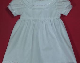 White 3 months ceremony dress in cotton polyester