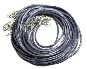 10pc - necklaces neck turns gray - 4558550012265 2mm waxed cotton cord