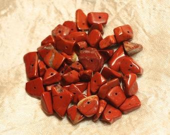 40pc - stone beads - Jasper red Chips 6-15mm 4558550021366